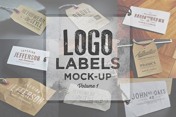 Logo Labels Mock-ups Vol.1 by Zeppelin Graphics on @creativemarket