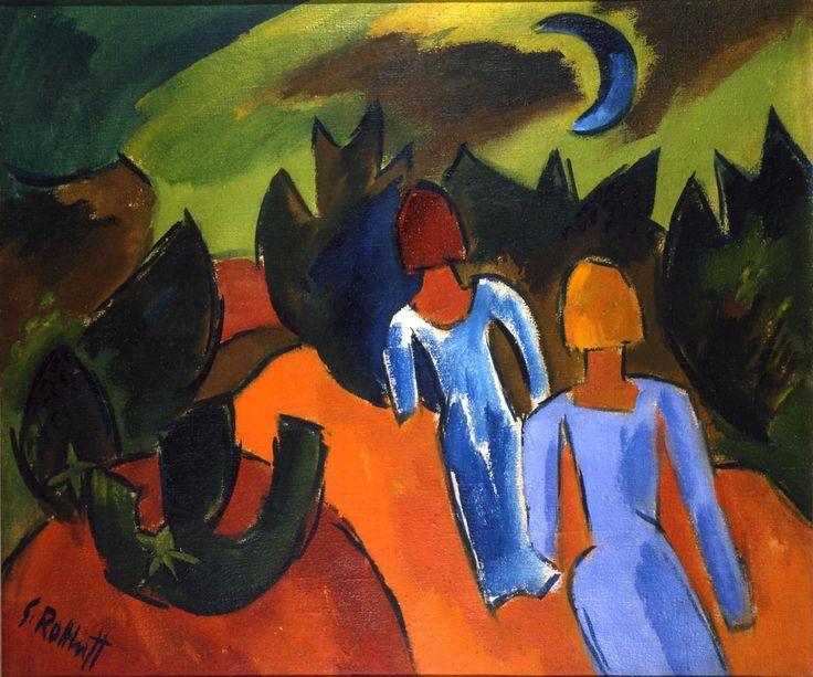 urgetocreate: Karl Schmidt-Rottluff Blauer Mond, 1920 Öl auf Leinwand 75,5 x 89cm