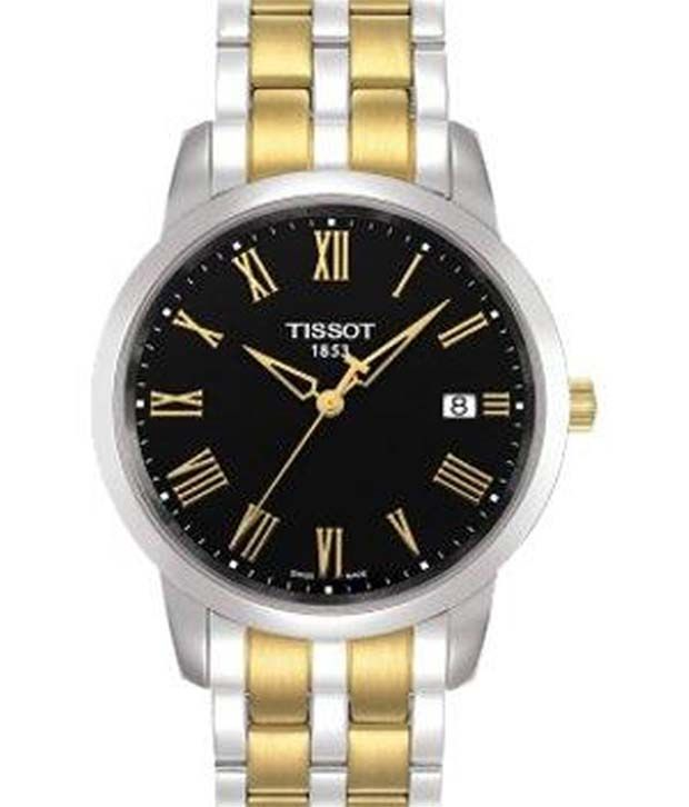 Tissot T0334102205300 Silver-Gold Stainless Steel Watch, http://www.snapdeal.com/product/tissot-t0334102205300-silvergold-stainless-steel/1433188
