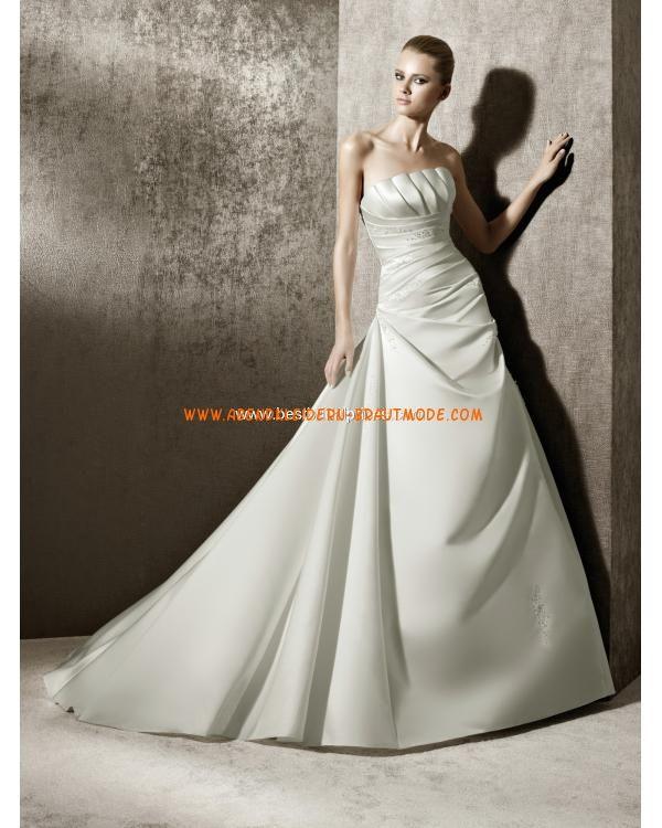 Romantische Brautkleider 2012 Bestverkauft aus Taft A-Linie mit ...