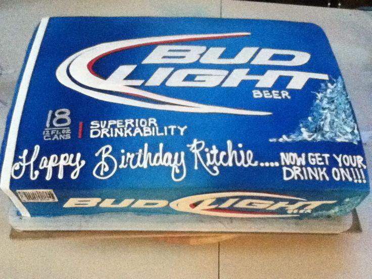 Bud Light Cake um yes for my 34