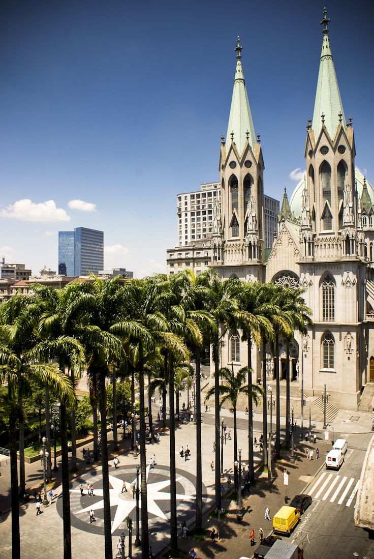 Sé Cathedral, Old Downtown #SpectacularStays #unique #hotels #travel #adventure #brazil