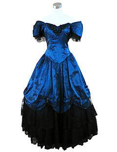 steampunk®deep guerra civile blu meridionale abito abito da ballo belle Abito partito vittoriano