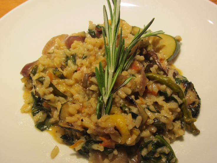Risotto with grilled veggies and Duck Ragout