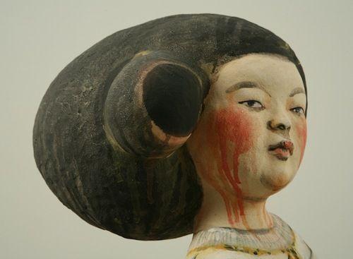 Akio Takamori  Face,shape of hair, color,blood.