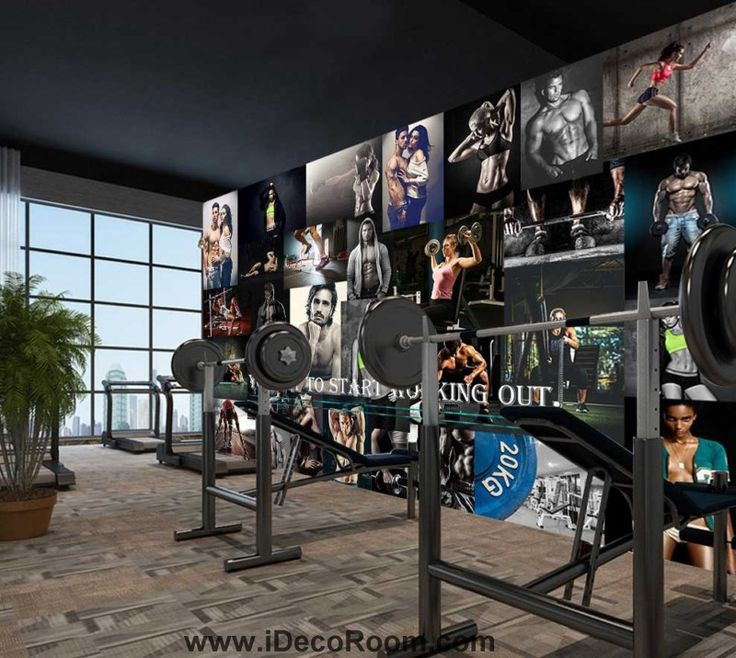 Collague Poster Of People Doing Excercise  Art Wall Murals Wallpaper Decals Prints Decor IDCWP-JB-000877