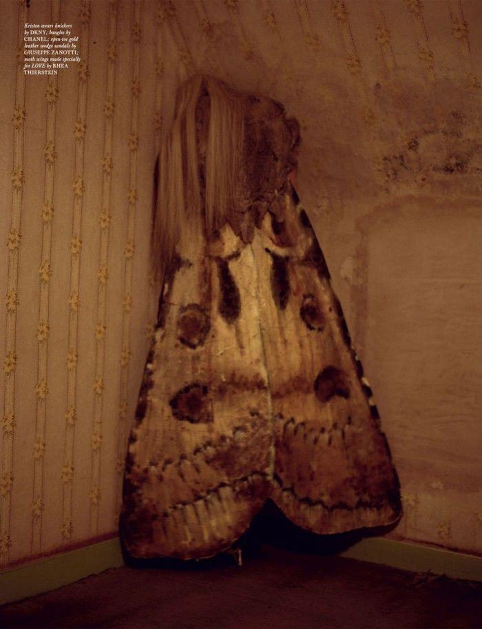 Love Magazine's imaginative and raw Tim Walker story, 'The Origin of Monsters' featuring Kristen McMenamy