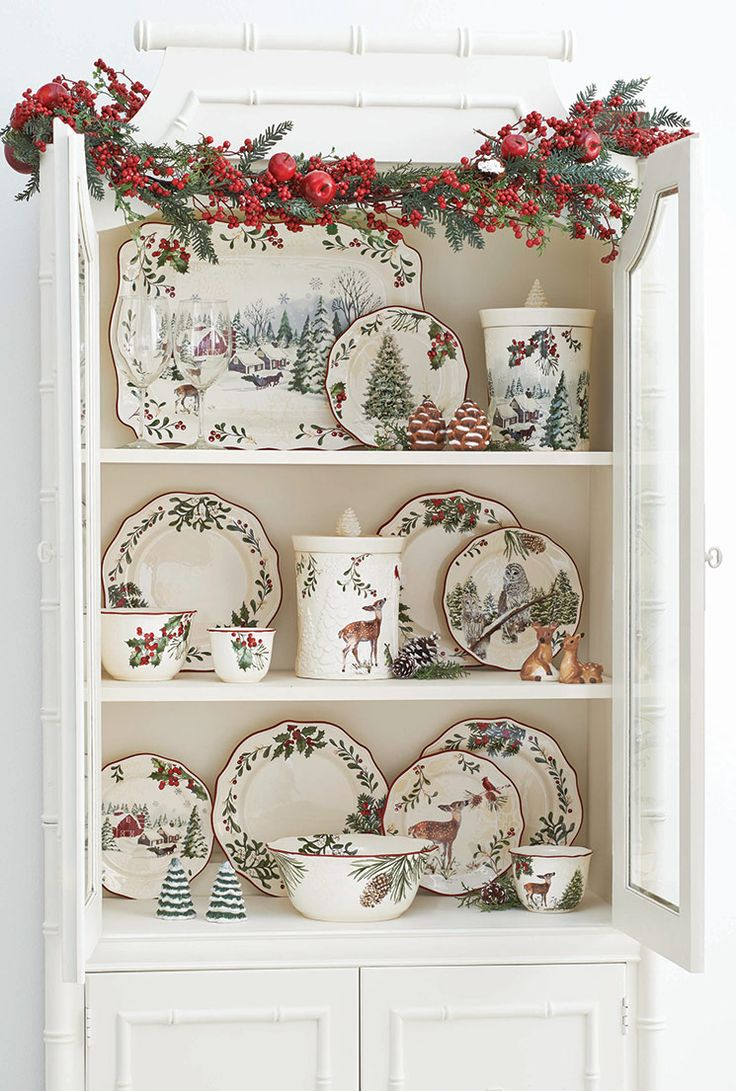 Wow, you'd never guess these lovely dishes were from Walmart. I'd never seen them displayed like this. I bought six of the red barn this past year, now what I wouldn't give for the large platter, bowl and more! Hope they bring them back again in 2015....