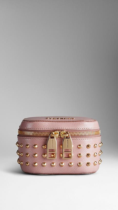 Studded Patent London Leather Cosmetics Case | Burberry