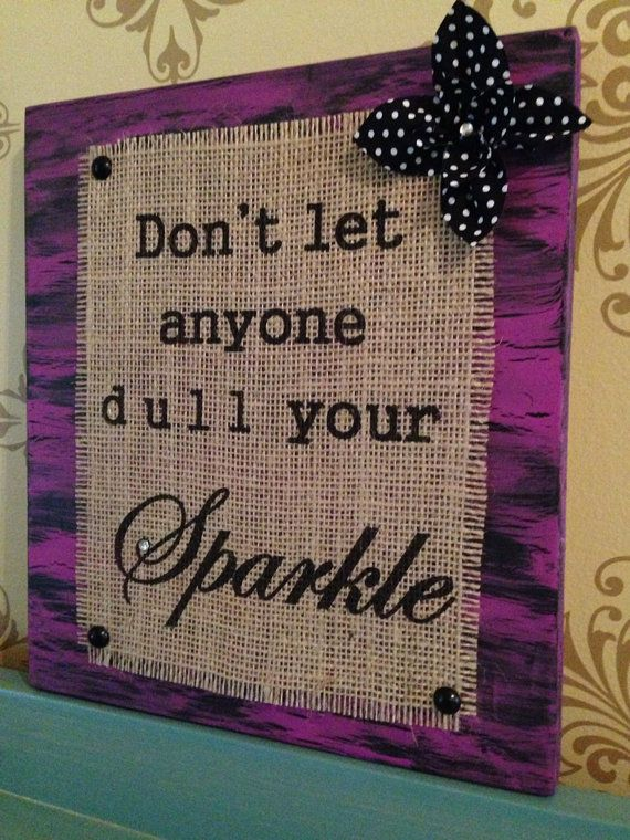 Distressed Wooden Sign with Burlap Message by tumpuscreations