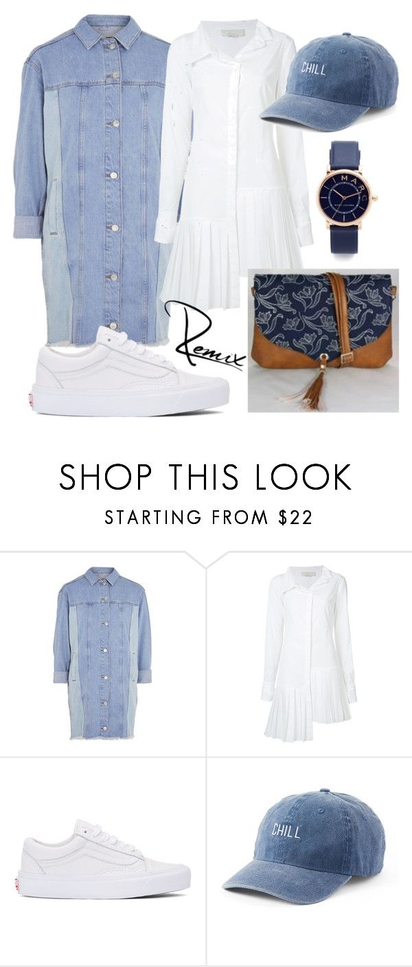 """Denimová láska"" by aleva on Polyvore featuring Topshop, Monse, Vans, SO and Marc Jacobs"