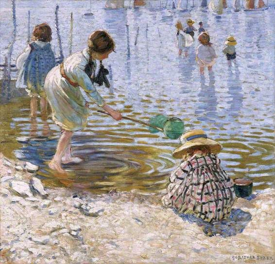 Dorothea Sharp 1874–1955-At the Seaside