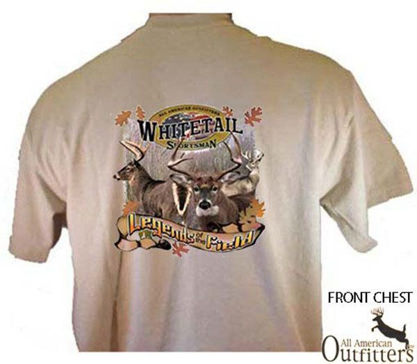 Whitetail Sportsman legends Of The Field Deer Hunting Sport T-Shirt by TeeDesignsbyVR on Etsy