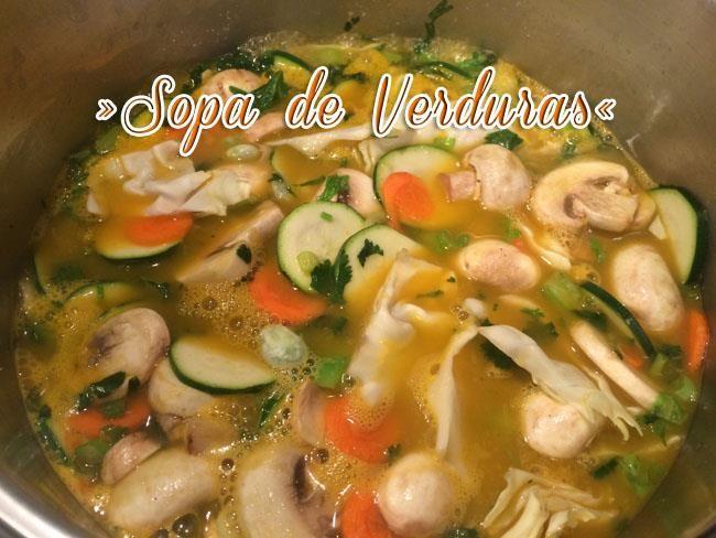 Sopa De Verduras Fácil Y Deliciosa   Sopa Saludable