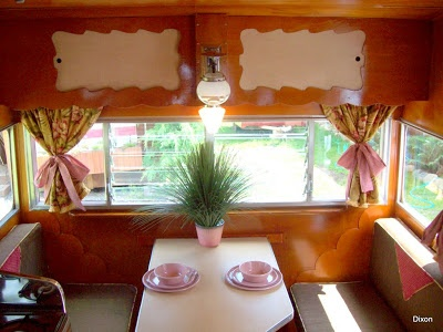 Lovely Interior Of A Pink 1964 Shasta Travel Trailer