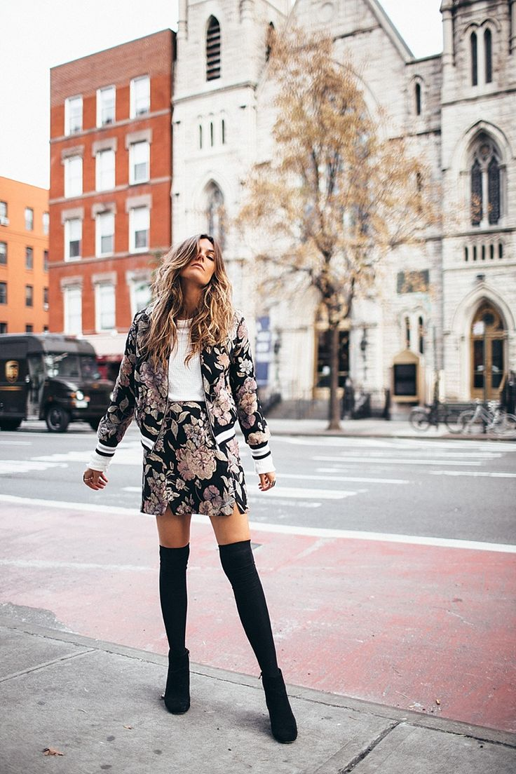 Pair your over-the-knee boots with a fun and flirty two piece set. You'll instantly look put together this winter. Let DailyDressMe help you find the perfect outfit for whatever the weather!