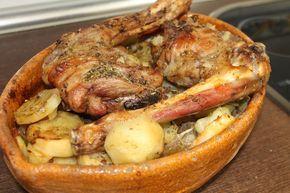 Cabrito asado al horno con patatas, una receta muy facil y con un sabor extraordinario, fotografias paso a paso. Incluye video receta