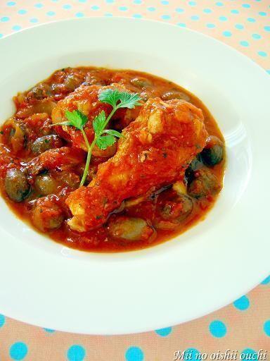 鶏手羽とうずら豆のトマト煮込み♪ル・クルーゼで美肌レシピ by みぃ ...