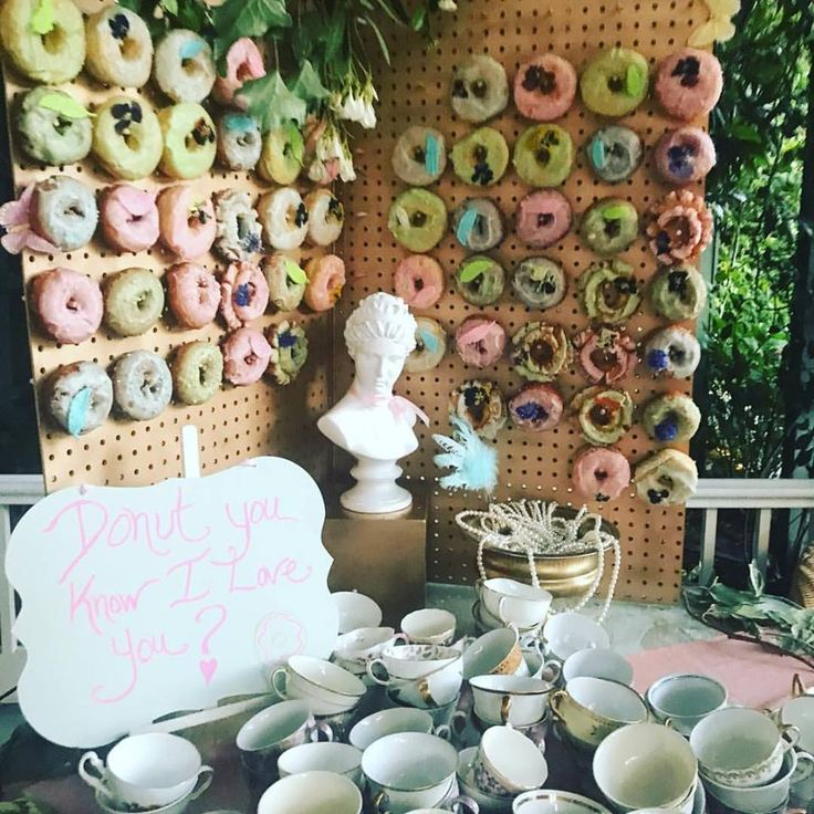 Whimsical Pastel Donut Wall By Dish Catering Los Angeles