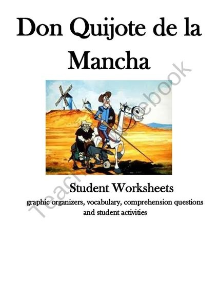 Don Quijote Worksheets and Activities Bundle from Spanish Classroom on TeachersNotebook.com (9 pages)