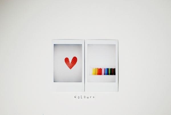 #polaroid color love