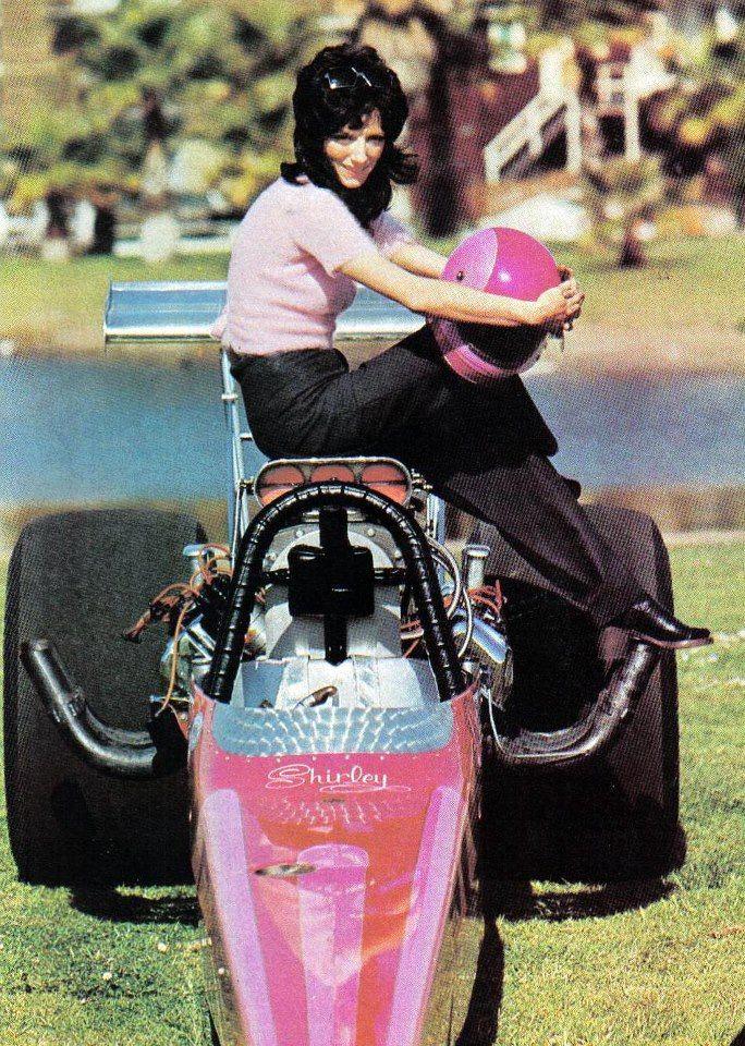 SHIRLEY MULDOWNEY (Shirley Ann Roque) Wednesday, June 19, 1940 - Burlington, Vermont, USA. NHRA drag racing.