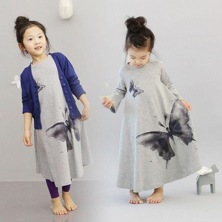 nieuwe herfst toevallige baby meisje jurken meisjes jurk vlinder afdruk baby jurk met lange mouwen kinderen gewaad bapteme chilren kleding in            Hoe kan ik weten welke maat te bestellen?Selecteer het formaa van jurken op AliExpress.com   Alibaba Groep
