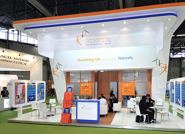 Exhibition Stand Builders France : Custom booth for aanjaneya cphi france to know more