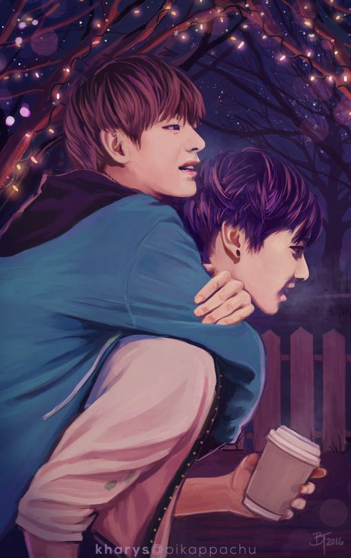 Vkook Fanart>> MY PINTEREST DID A THING HOLY FUCCK