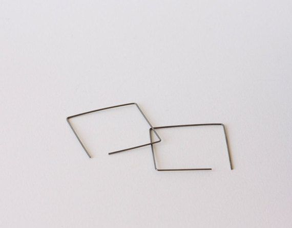 Square hoop earrings modern earrings dainty earrings