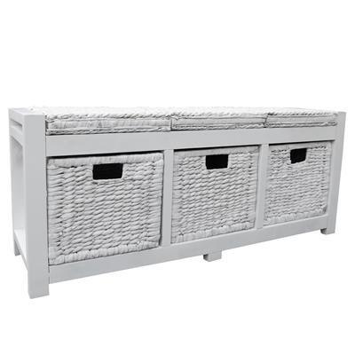 Home Storage > Loxley Wooden Hallway 3 Drawer Storage Bench