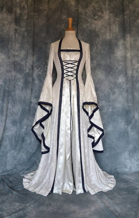 Black and white medieval gown celta pinterest for Gothic style wedding dresses