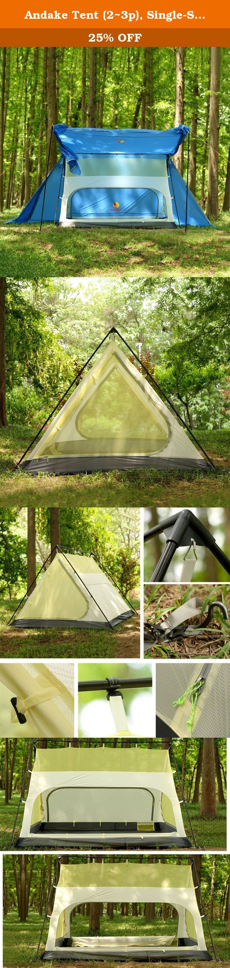 Andake Tent (2~3p) Single-Sided Silicone-Coated 15D Nylon Ripstop Fabric with Waterproof Rating of PU2000mm Ultralight u0026 Portable Best Tents for C&ing ... & 449 best Backpacking Tents Tents Tents u0026 Shelters Camping ...
