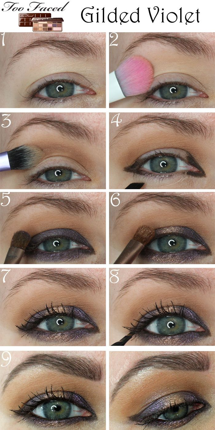 Too Faced Chocolate Bar Gilded Violet Tutorial