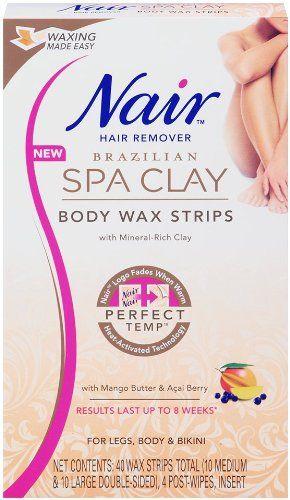 Nair Brazilian Spa Clay Body Wax Strips, 40 strips - List price: $8.99 Price: $7.99
