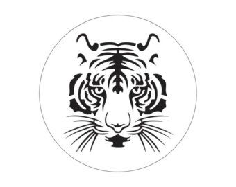 Tiger Cake stencil cake- Round stencil for cake decoration. Serial number- R092. Cakes design supplies