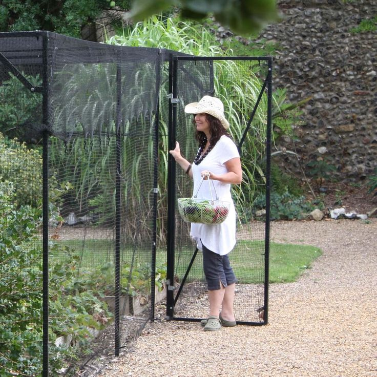 Walk-In Steel Fruit and Vegetable Cages - heavy duty fruit cages with side and roof netting.