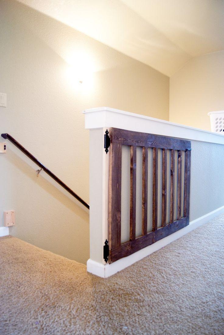Custom Baby Gate | Future Home | Pinterest | Minwax Dark Walnut, Diy Baby  Gate And Baby Gates.
