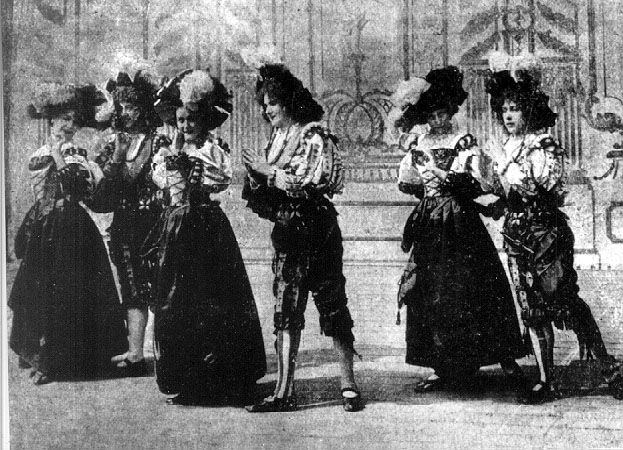 "A scene from ""A Táncz,"" (The Dance) the first Hungarian film in 1901"