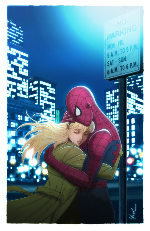 Spider-Man and Gwen Stacy Color by Protokitty on @DeviantArt