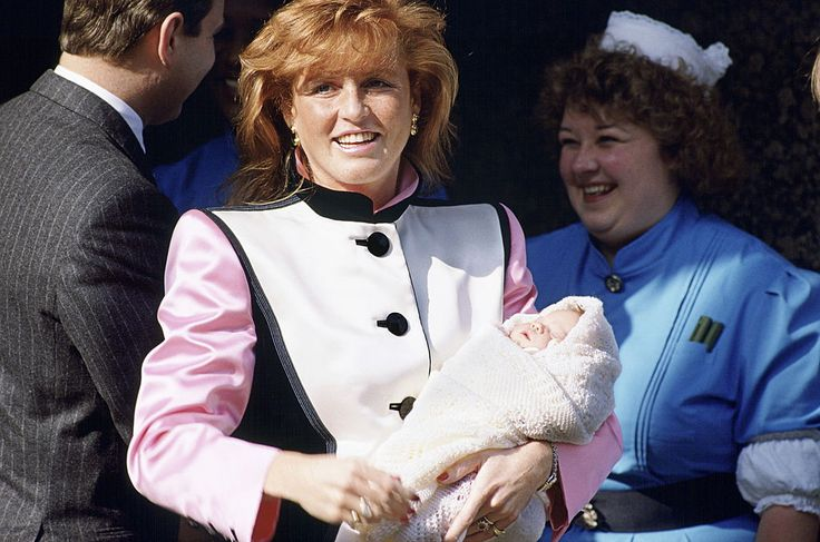 1990: BEATRICE GETS A SISTER The Duke and Duchess of York welcome Princess Eugenie on March 23