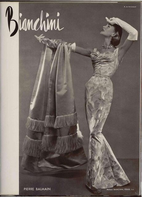 """Pierre Balmain (BUT - I still hear Carol Burnett in my head, in her best Scarlett O'Hara voice... """"I saw it in the window and just had to have it!"""" Hahaha!)"""