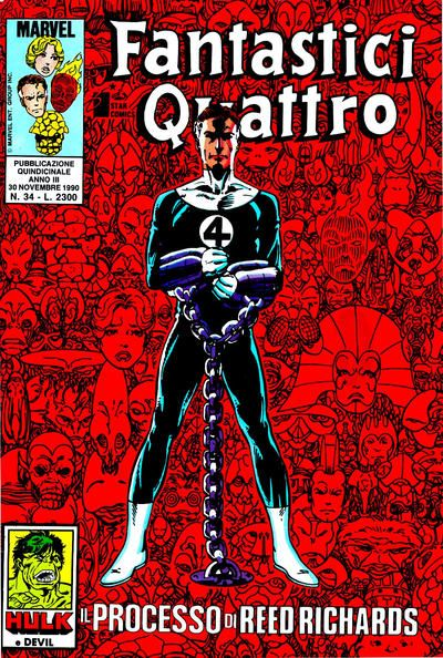 Cover for Fantastici Quattro (Edizioni Star Comics, 1988 series) #34