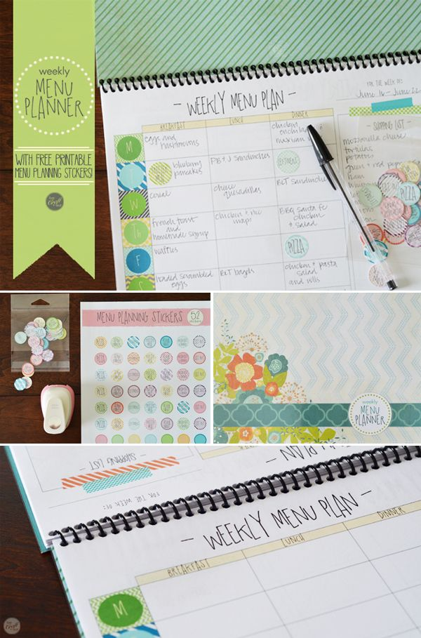 do you menu plan? here's an easy DIY menu planner with free printable menu planning stickers, and a link to free printable menu planning sheets. life just got a whole lot easier! :)   www.livecrafteat.com