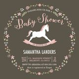 Elegant Rocking Horse Baby Shower Invitations by C... | Minted