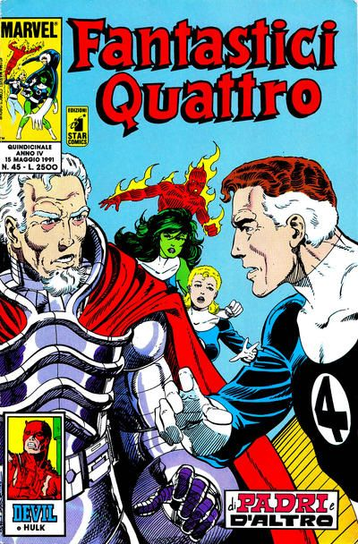 Cover for Fantastici Quattro (Edizioni Star Comics, 1988 series) #45