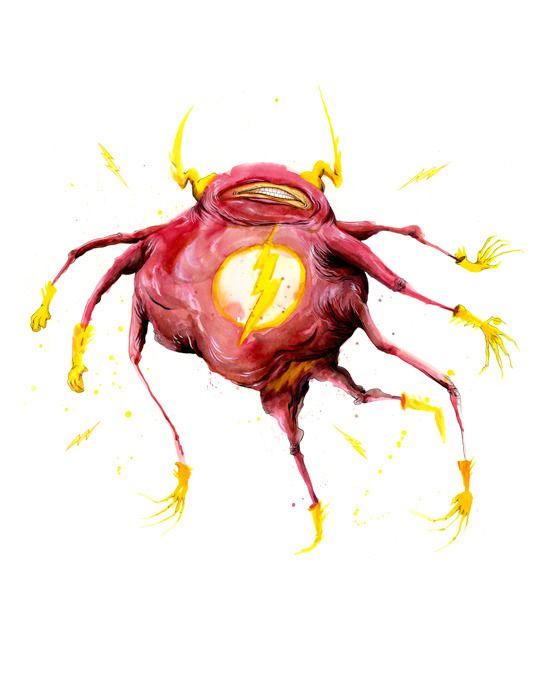 Monster Heroes by Alex Pardee - The Flash