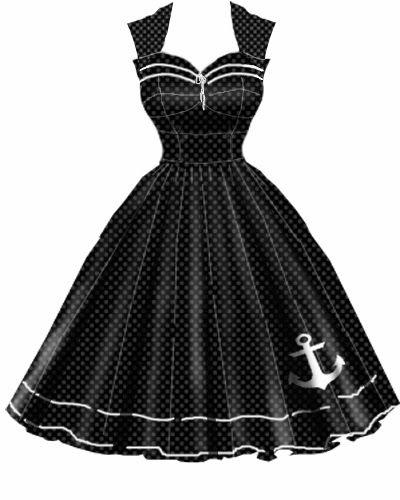 Rockabilly Anchor Dress