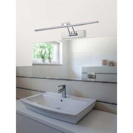 Απλίκα τοίχου μπάνιου LED LINEAR μεταλλική χρωμίου