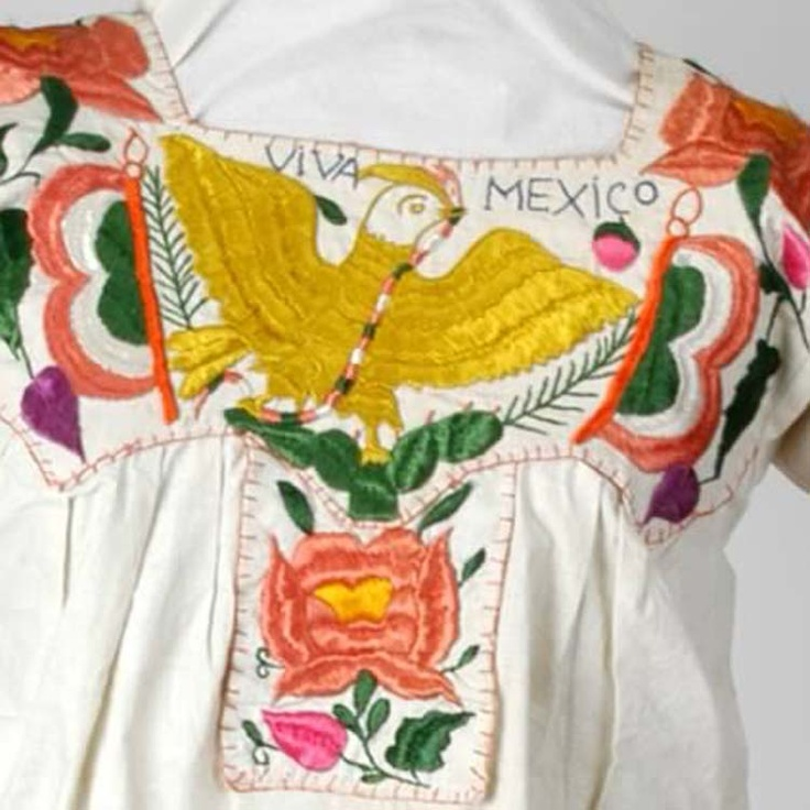 Mexican embroidery textiles pinterest